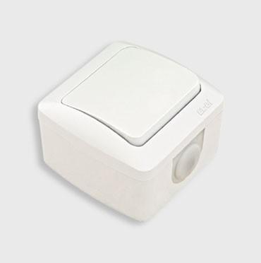 Выключатель 1-клавишный накладной