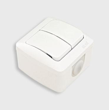 Выключатель 2-клавишный накладной